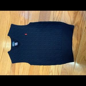 Polo cable knit Polo Vest